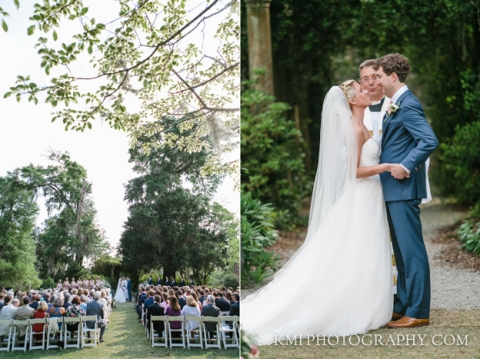 airlie gardens wedding ceremony