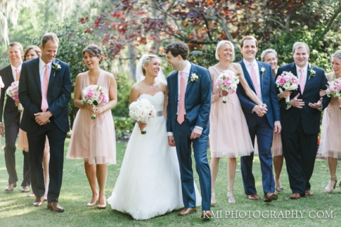 wedding party at airlie gardens