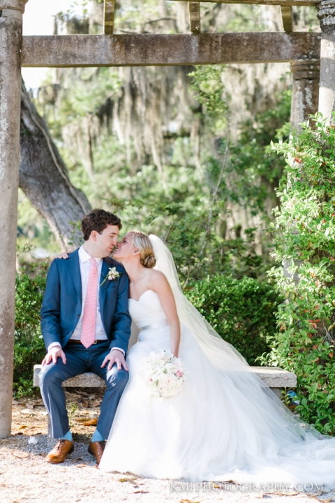 bride and groom at airlie gardens