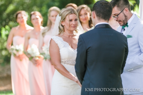 wedding ceremony at Wrightsville Manor in Wilmington NC