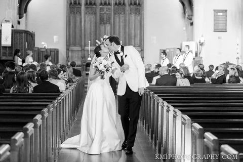 a ceremony at first presbyterian church in Wilmington NC by KMI Photography