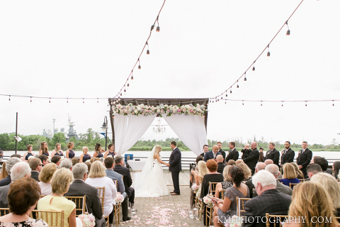 a beautiful hotel ballast wedding ceremony with wedding photography by kmi photography