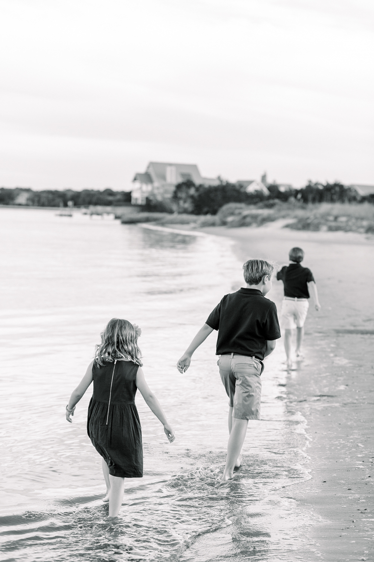 family photo session at Bald Head Island NC
