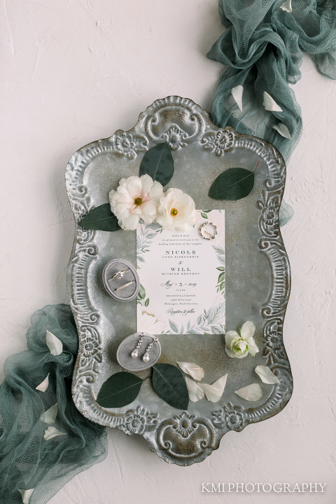 beautiful invitation for a Wrightsville Manor wedding