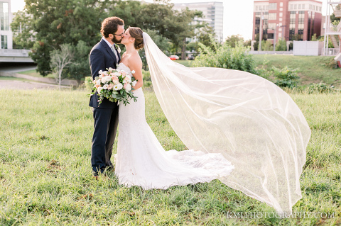 a beautiful Brooklyn arts center wedding in Wilmington NC